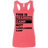 This is Training Camp (Softstyle Tank) Apparel CustomCat Ladies Softstyle Racerback Tank Heather Red Small