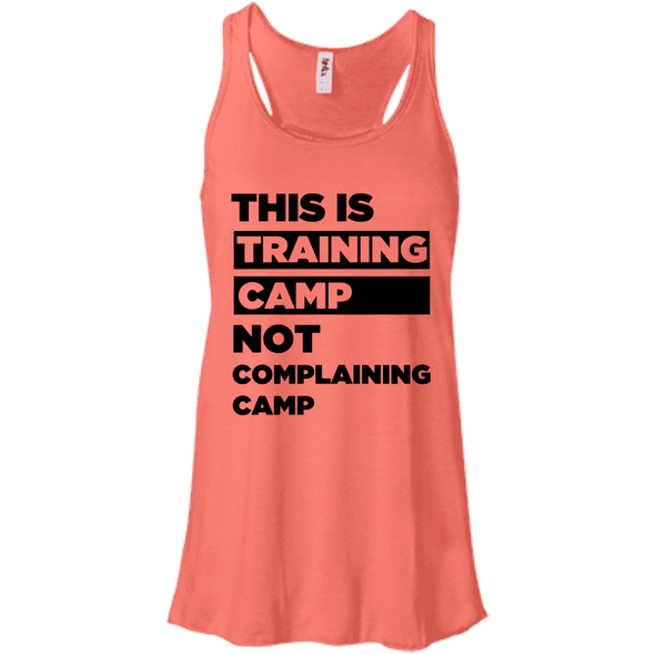 This is Training Camp (Tanks) Apparel CustomCat Bella + Canvas Flowy Racerback Tank Coral X-Small