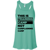 This is Training Camp (Tanks) Apparel CustomCat Bella + Canvas Flowy Racerback Tank Teal X-Small