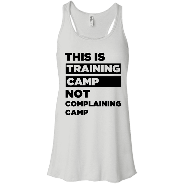 This is Training Camp (Tanks) Apparel CustomCat Bella + Canvas Flowy Racerback Tank White X-Small