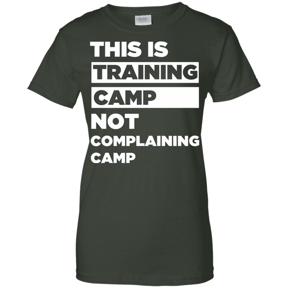 This is Training Camp (Tees) Apparel CustomCat Ladies' 100% Cotton T-Shirt Forest Green X-Small