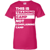 This is Training Camp (Tees) Apparel CustomCat Ladies' 100% Cotton T-Shirt Heliconia X-Small