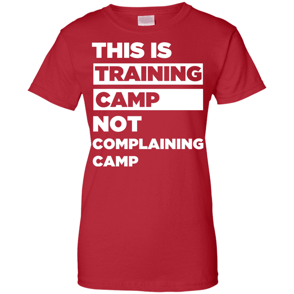 This is Training Camp (Tees) Apparel CustomCat Ladies' 100% Cotton T-Shirt Red X-Small