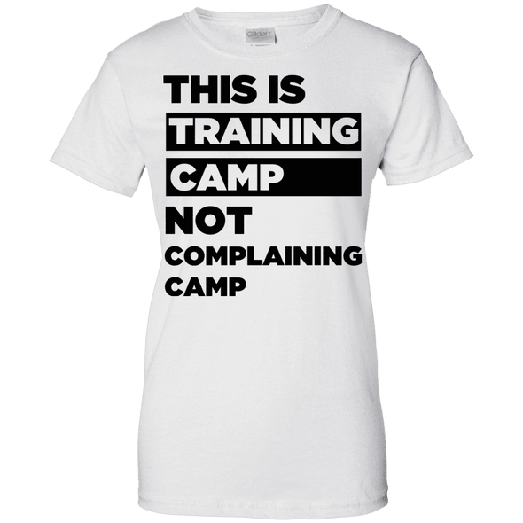 This is Training Camp (Tees) Apparel CustomCat Ladies' 100% Cotton T-Shirt White X-Small