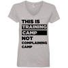 This is Training Camp (Tees) Apparel CustomCat Ladies' V-Neck Tee Heather Grey Small