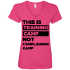 This is Training Camp (Tees) Apparel CustomCat Ladies' V-Neck Tee Hot Pink Small