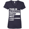 This is Training Camp (Tees) Apparel CustomCat Ladies' V-Neck Tee Navy Small