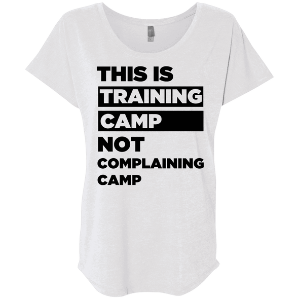 This is Training Camp (Tees) Apparel CustomCat Next Level Ladies' Triblend Dolman Sleeve Heather White X-Small