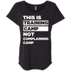 This is Training Camp (Tees) Apparel CustomCat Next Level Ladies' Triblend Dolman Sleeve Vintage Black X-Small
