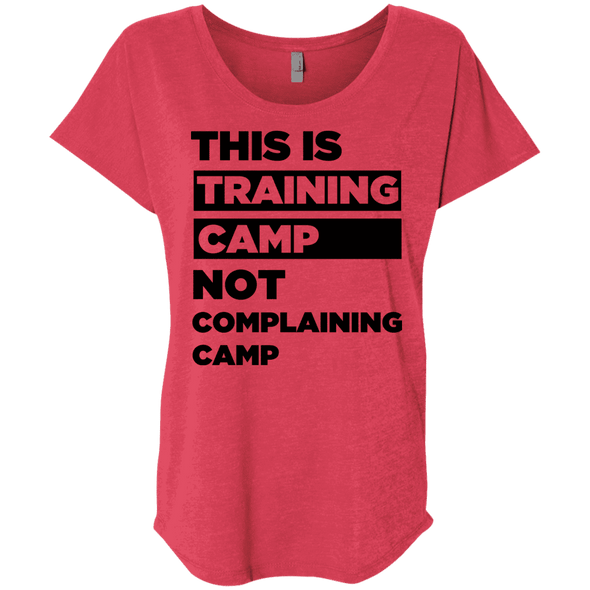This is Training Camp (Tees) Apparel CustomCat Next Level Ladies' Triblend Dolman Sleeve Vintage Red X-Small