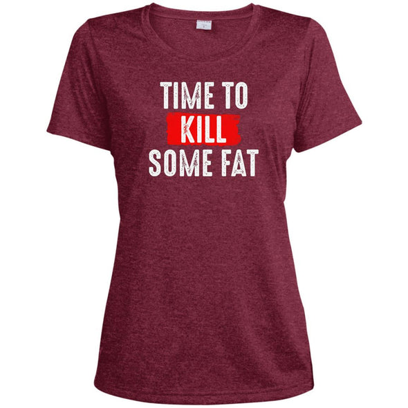 Time To Kill Some Fat Dri-Fit Tee T-Shirts CustomCat Cardinal Heather X-Small