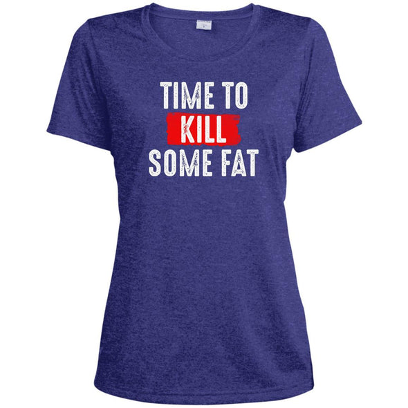 Time To Kill Some Fat Dri-Fit Tee T-Shirts CustomCat Cobalt Heather X-Small