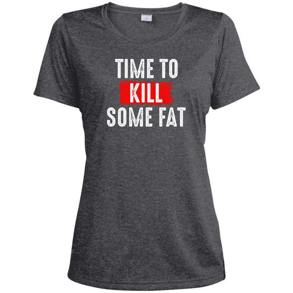 Time To Kill Some Fat Dri-Fit Tee T-Shirts CustomCat Graphite Heather X-Small