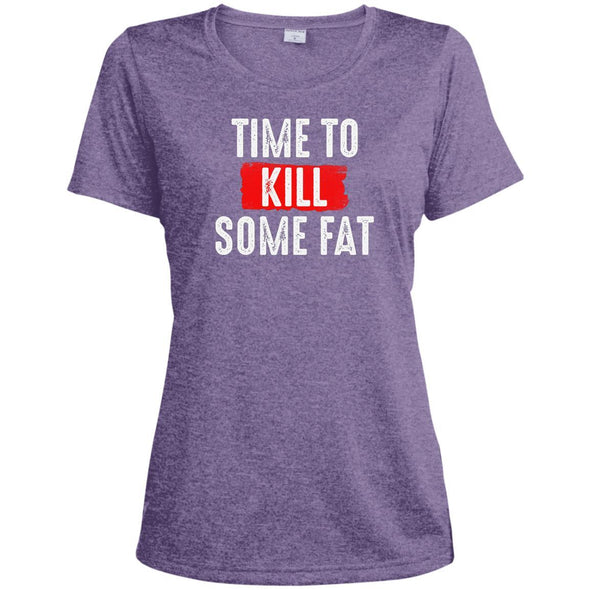 Time To Kill Some Fat Dri-Fit Tee T-Shirts CustomCat Purple Heather X-Small