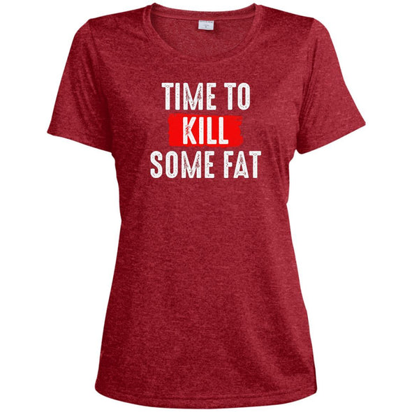 Time To Kill Some Fat Dri-Fit Tee T-Shirts CustomCat Scarlet Heather X-Small