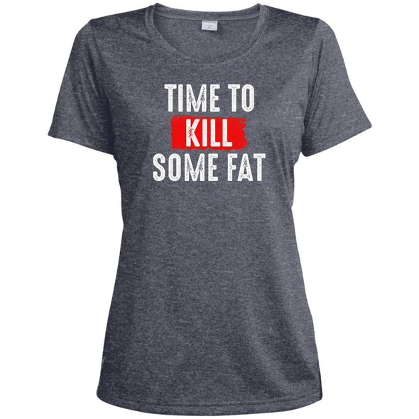 Time To Kill Some Fat Dri-Fit Tee T-Shirts CustomCat True Navy Heather X-Small
