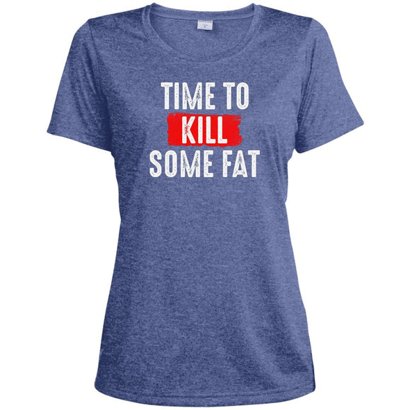 Time To Kill Some Fat Dri-Fit Tee T-Shirts CustomCat True Royal Heather X-Small