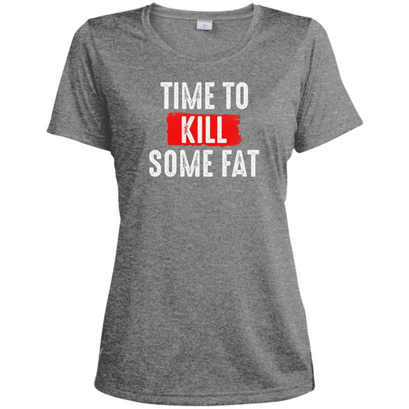 Time To Kill Some Fat Dri-Fit Tee T-Shirts CustomCat Vintage Heather X-Small
