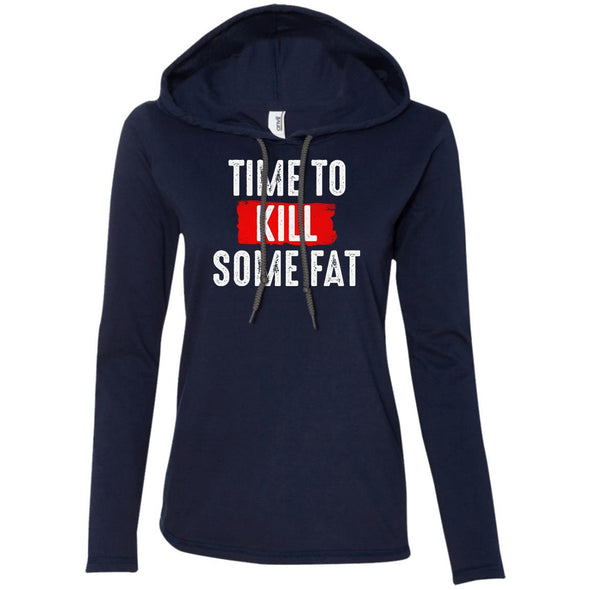 Time To Kill Some Fat Hoodie T-Shirts CustomCat Navy/Dark Grey S
