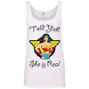 Told Yah She is Real Apparel CustomCat Ladies' 100% Ringspun Cotton Tank Top White Small