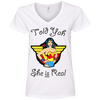 Told Yah She is Real Apparel CustomCat Ladies' V-Neck Tee White Small
