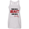 Train Like a Beast, Look Like a Beauty Apparel CustomCat Bella+Canvas Flowy Racerback Tank Vintage White X-Small
