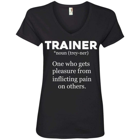 Trainer definition T-Shirts CustomCat Black Small