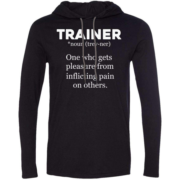 Trainer definition T-Shirts CustomCat Black/Dark Grey Small
