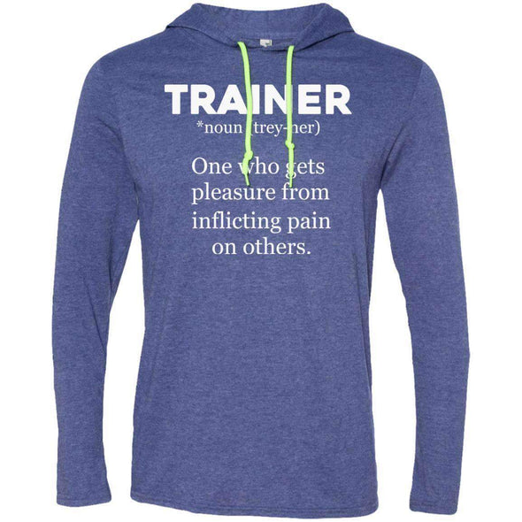 Trainer definition T-Shirts CustomCat Heather Blue/Neon Yellow Small