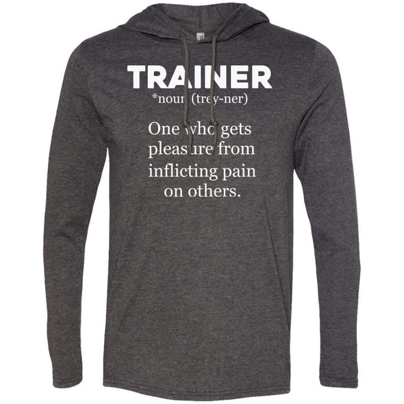 Trainer definition T-Shirts CustomCat Heather Dark Grey/Dark Grey Small