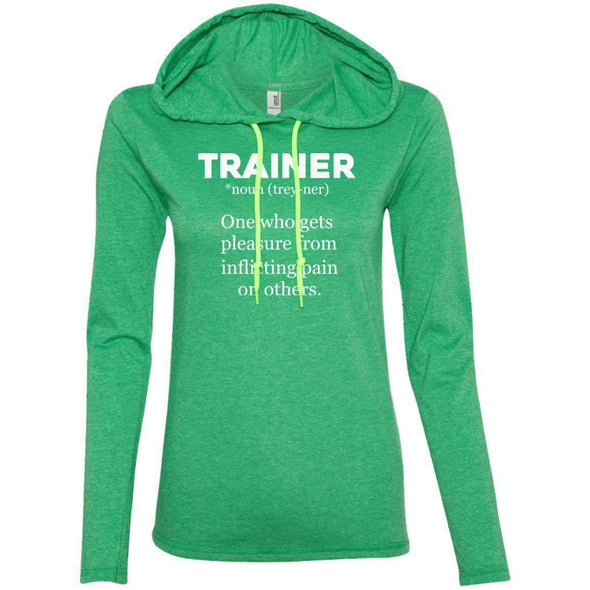 Trainer definition T-Shirts CustomCat Heather Green/Neon Yellow Small
