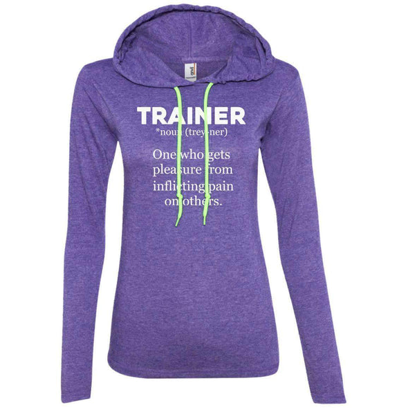 Trainer definition T-Shirts CustomCat Heather Purple/Neon Yellow Small