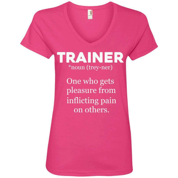Trainer definition T-Shirts CustomCat Hot Pink Small