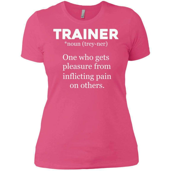 Trainer definition T-Shirts CustomCat Hot Pink X-Small