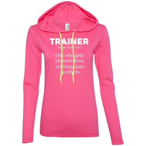 Trainer definition T-Shirts CustomCat Hot Pink/Neon Yellow Small