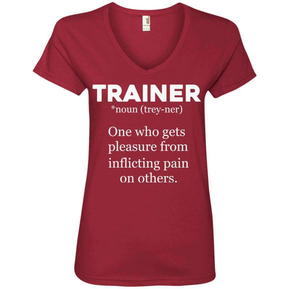 Trainer definition T-Shirts CustomCat Independence Red Small