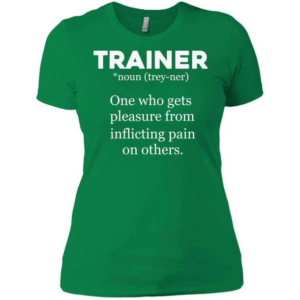 Trainer definition T-Shirts CustomCat Kelly Green X-Small
