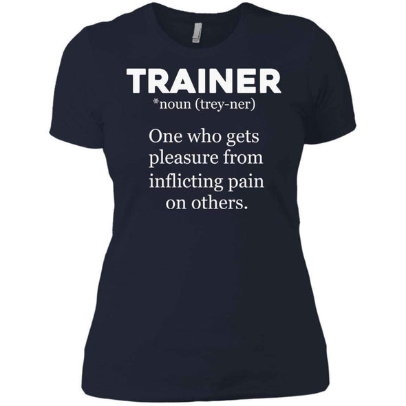 Trainer definition T-Shirts CustomCat Midnight Navy X-Small