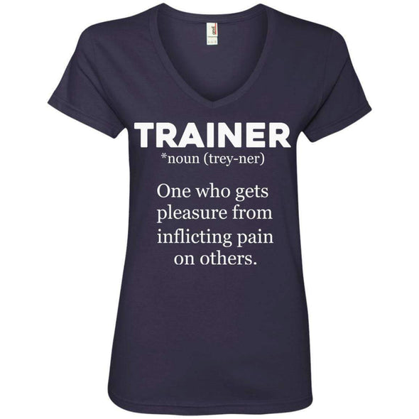 Trainer definition T-Shirts CustomCat Navy Small