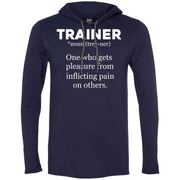Trainer definition T-Shirts CustomCat Navy/Dark Grey Small