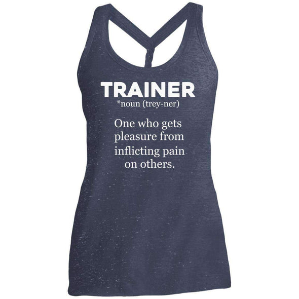 Trainer definition T-Shirts CustomCat Navy/Royal Cosmic X-Small