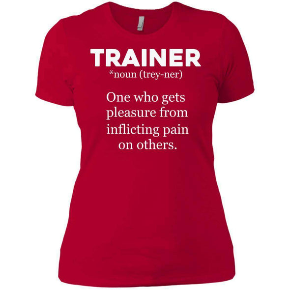 Trainer definition T-Shirts CustomCat Red X-Small