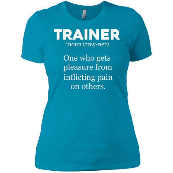 Trainer definition T-Shirts CustomCat Turquoise X-Small