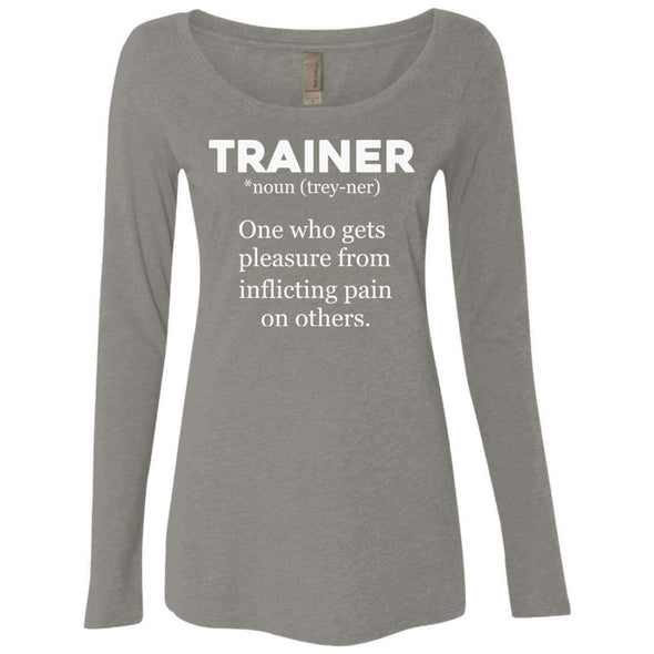 Trainer definition T-Shirts CustomCat Venetian Grey Small