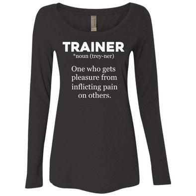 Trainer definition T-Shirts CustomCat Vintage Black Small