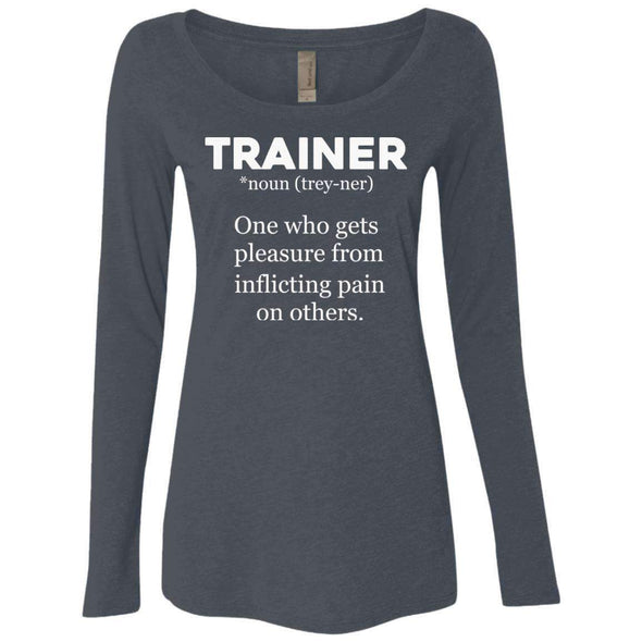 Trainer definition T-Shirts CustomCat Vintage Navy Small