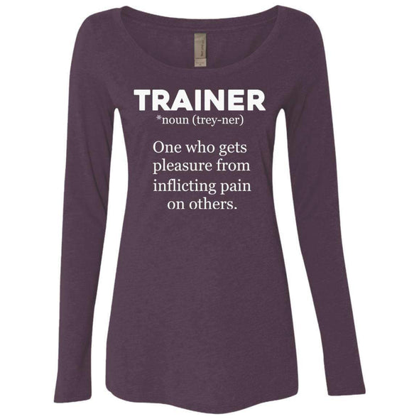 Trainer definition T-Shirts CustomCat Vintage Purple Small