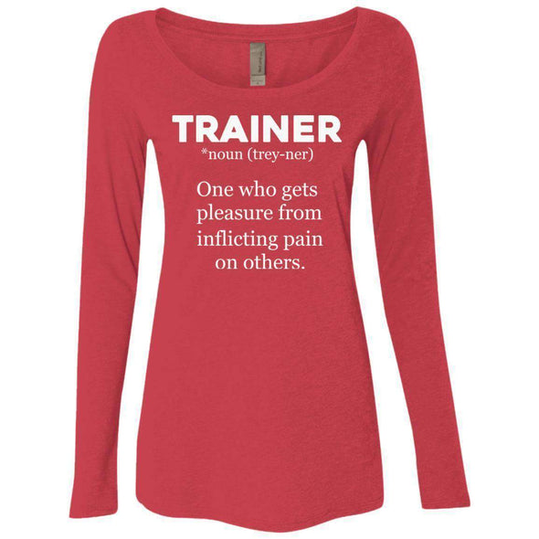 Trainer definition T-Shirts CustomCat Vintage Red Small