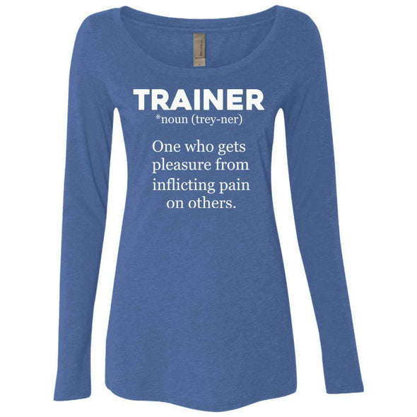 Trainer definition T-Shirts CustomCat Vintage Royal Small
