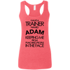 Trainer Named Adam Apparel CustomCat G645RL Gildan Ladies' Softstyle Racerback Tank Heather Red Small